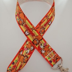 Garfield the cat lanyard / ID holder / badge holder