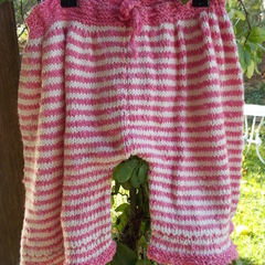 Beach pants for pirates! Hand knit wide leg pants. 100% cotton size 2-3  ON SALE