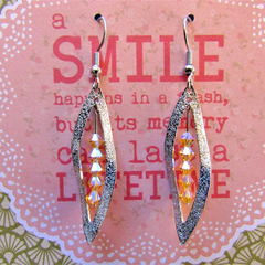 Amber Crystal Leaf Earrings