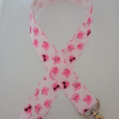 Pink pig lanyard / ID holder / badge holder