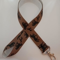 Brown horse and foal lanyard / ID holder / badge holder