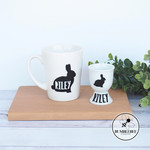 Personalised Easter Bunny Rabbit Mug and Egg Cup Holder