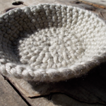 Crocheted basket made from pure wool ON SALE!!!