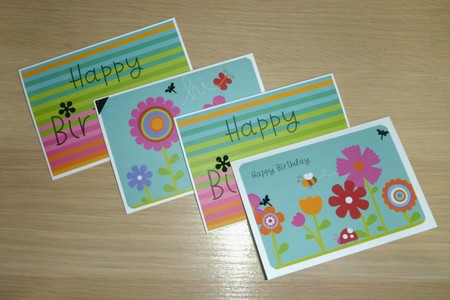 Set 4 Girls Happy Birthday cards