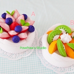 Pavlova Felt Cake Tea Party Nursery Home Decor Christmas Birthday Gift
