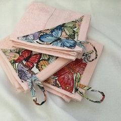 HANGING HAND WASHER SET (3) -Spring Butterflies