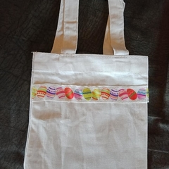 Bright Easter egg print mini tote bags / gift bags