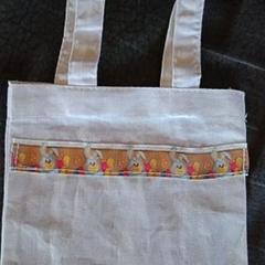 Easter bunny print mini tote bag / gift bag