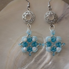 Mother of Pearl Beaded Earrings
