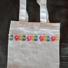 Easter egg print mini tote bags