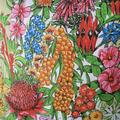 Vintage Retro Australian Wildflowers Cushion