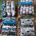 New Nappy Clutch - Diaper Wallet - Grey and White Porcupine