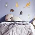 Australian Animals fabric wall sticker/decal ( Set of 6 )