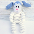 'Benny' the Sock Bunny - grey, blue & white - *READY TO POST*