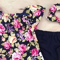 Smock Top - Navy Floral - Pink - Yellow - Sizes 000-2