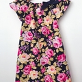 Smock Dress - Peasant Dress - Navy Floral - Pink - Yellow - Sizes 1-6