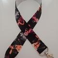 Pink pop star lanyard / ID holder / badge holder