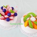 Pavlova-Felt Cake-Home Decor-Fake Cake-Gift-Tea Party