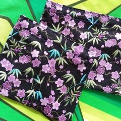 Handy Bags-Lilac blossom print on black