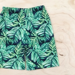 Choose your size 1-6  - Shorts - Palm Leaves - Tropical - Navy - Green