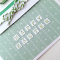 Easter Card - Cross stitch Chick on Green