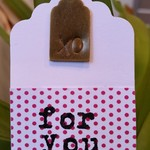 5 x Hand-Stamped Brass Gift Tags - XO