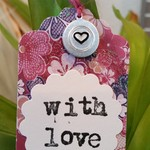 5 x Hand-Stamped Silver Gift Tags - Love Heart