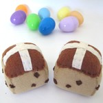 Hot Cross Buns Felt Play Food
