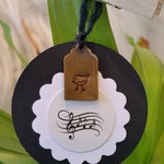 5 x Hand-Stamped Brass Gift Tags -  Birdsong