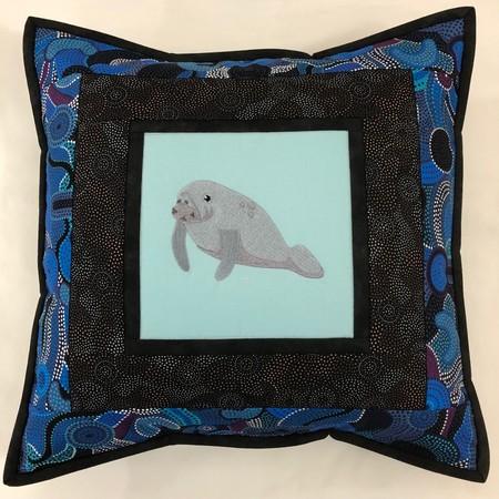 Australiana cushion cover - Dugong