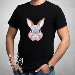 Geometric Rabbit Easter T-Shirt For Men