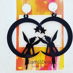 I believe in Fairies - Acrylic Dangle Earrings