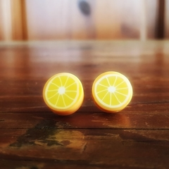 Quirky orange fruit studded earrings