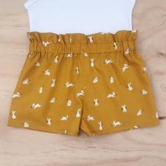 Shorties - Mustard Bunnies - Easter - Rabbits - Girls - Sizes 3-6