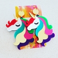 Rainbow Unicorns- Acrylic Dangle Earrings