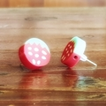 Quirky strawberry fruit studded earrings