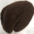 Unisex adult hand-knitted 100% AUSSIE-ALPACA slouchy-beanies 2/3