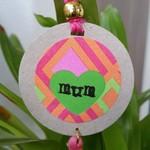 'Mum' Gift Tag - Bright Pink