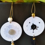 2 x Gift Tags with Tassels, Beads & Buttons - Blacks