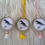 Set of 5 Bird Gift Tags - Pastels