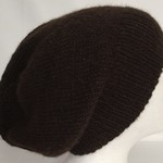 Unisex adult hand-knitted 100% AUSSIE-ALPACA slouchy-beanies 3/3