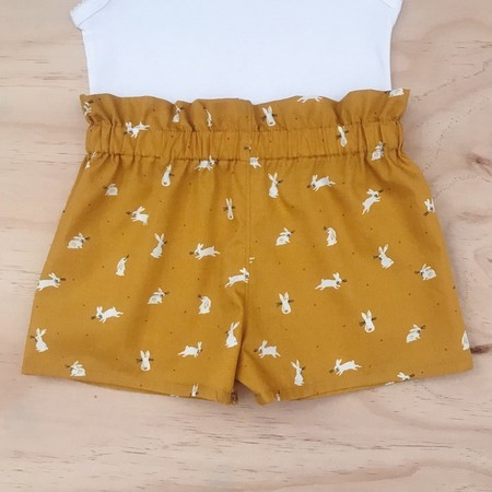 Shorties - Mustard Bunnies - Easter - Rabbits - Girls - Sizes 3-6
