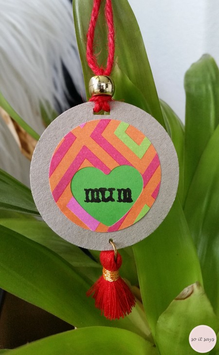 'Mum' Gift Tag - Red