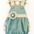 Baby Girls Frilly Romper Overalls Size New Born | 0000