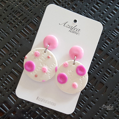 Pink Polka Dots (Large Dangle)