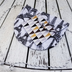 Black and white Eiffel Tower shoulder bag with coordinating coin purse