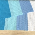 Handmade crochet colour block baby blanket ( blue/ red)