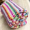 Handmade crochet baby blanket - Rainbow