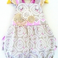 Baby Girls Frilly Romper Overalls Size 3 Months | 000