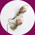 Czech glass pearl earrings